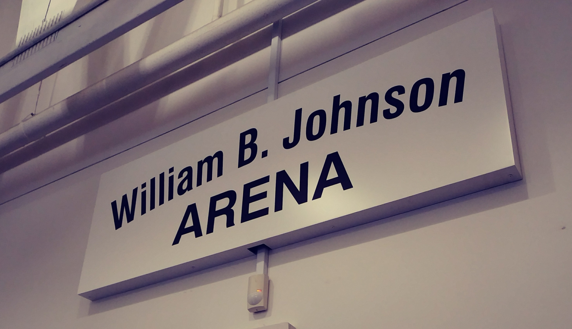 The William B. Johnson Arena was dedicated at the May 24 memorial.