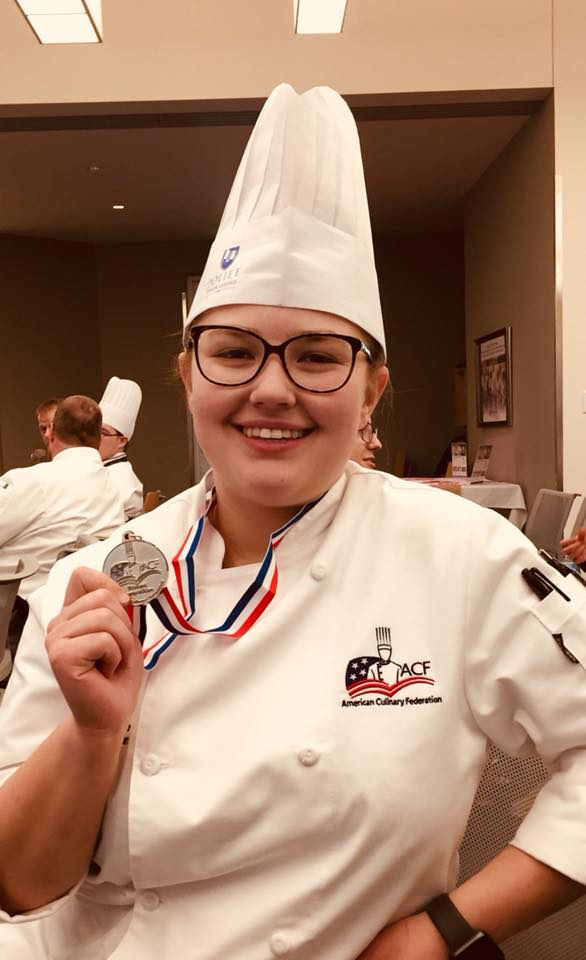 Emma Prucha received a silver medal in the student chef competition.