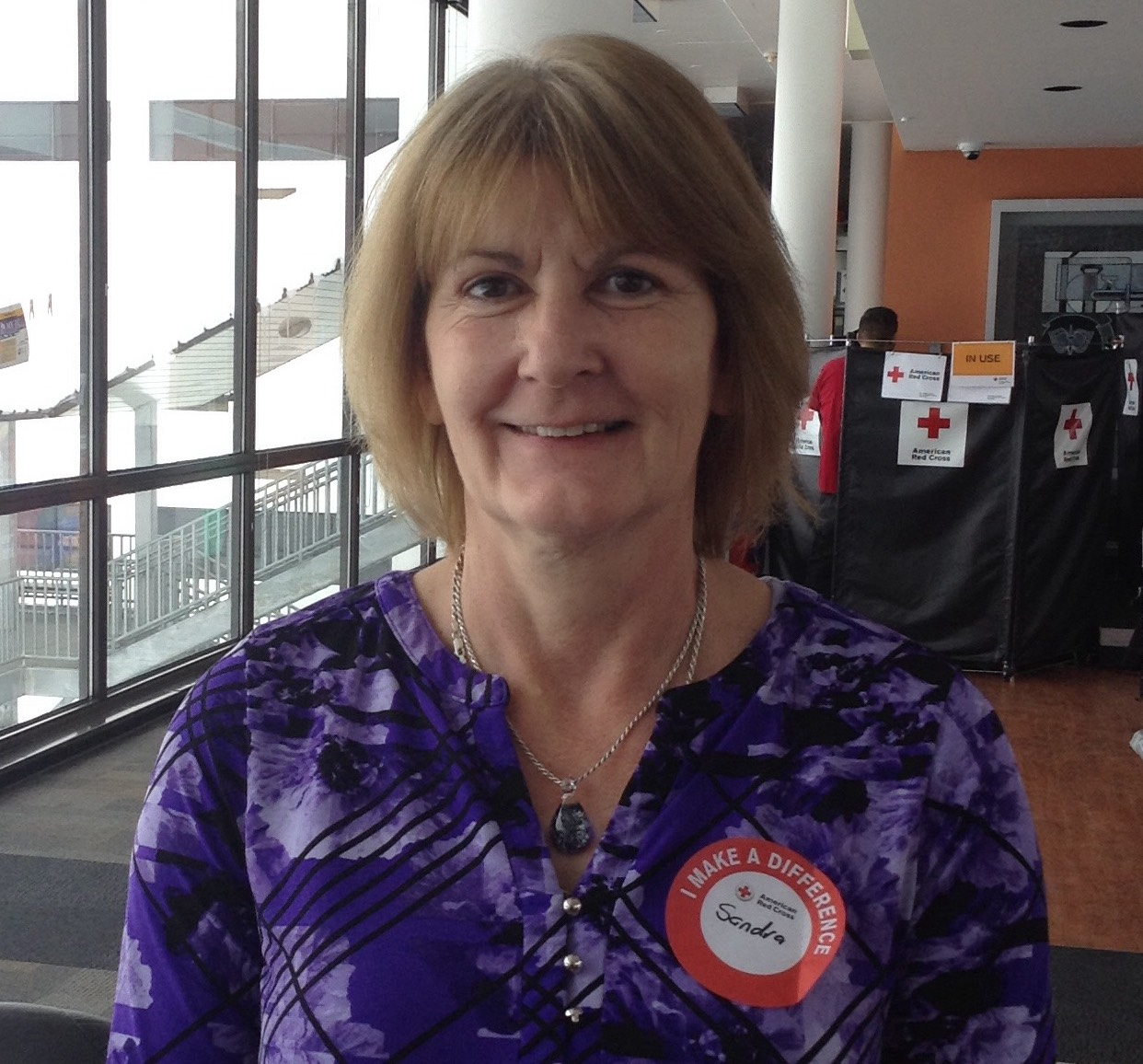 Sandra Bendel is a frequent donor at JJC drives.